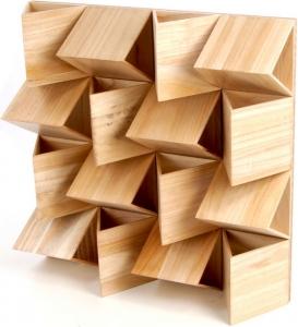 Controsoffitto diffrattori legno